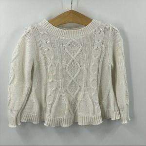 OshKosh | White Cable Knit Sweater, 2T